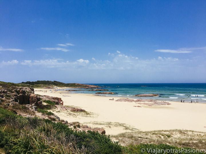 Hermosa vista de la Birubi Beach cerca de Port Stephens, Australia
