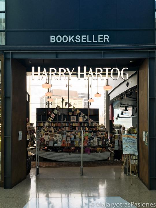 Entrada de la librería Harry Hartog en el centro Comercial de Westfield, Sydney
