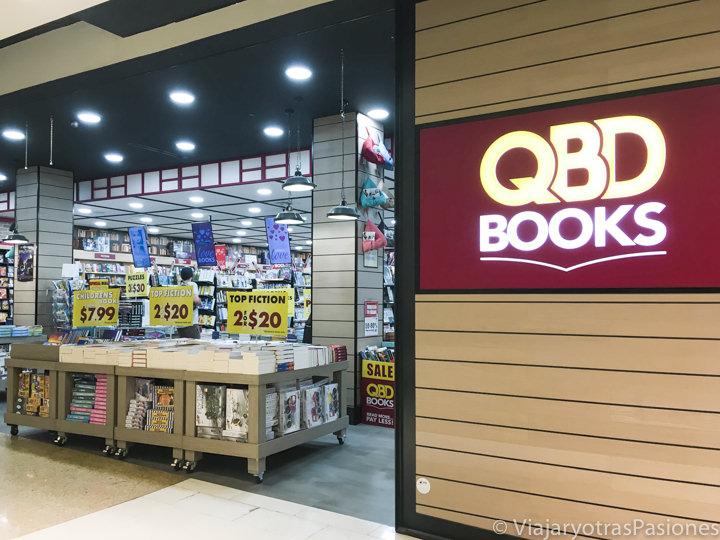 Entrada de la librería QBD en Bondi Junction en Sydney, Australia