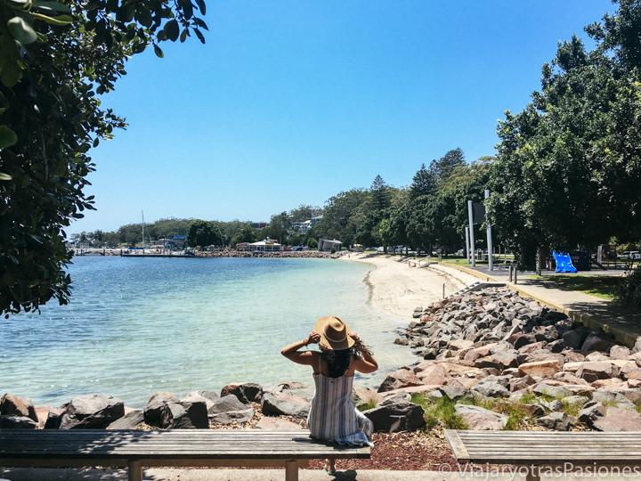 Espectacular vista de Little Nelson Bay Beach en Port Stephens, Australia