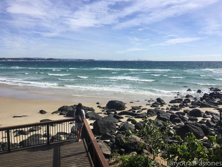 Increíble vista de la famosa Gold Coast en Australia