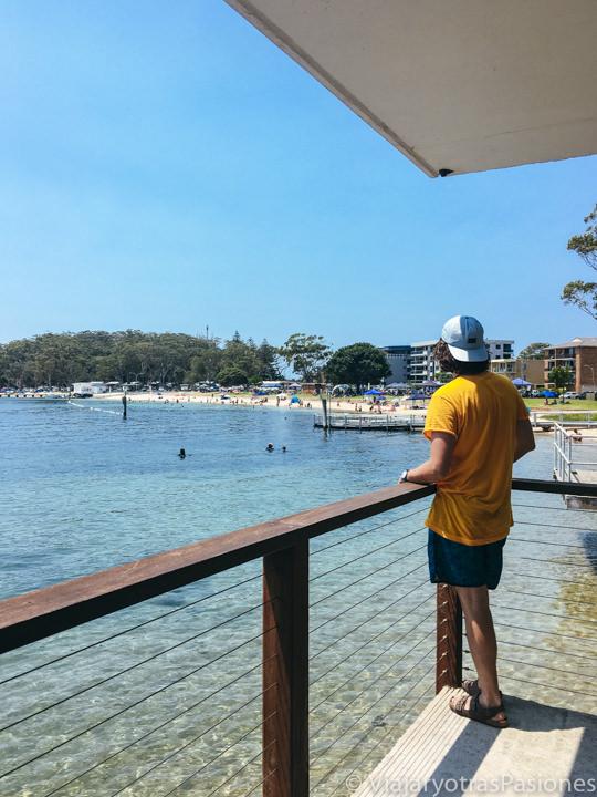 Espectacular vista desde la Little Boathouse en Port Stephens, Australia