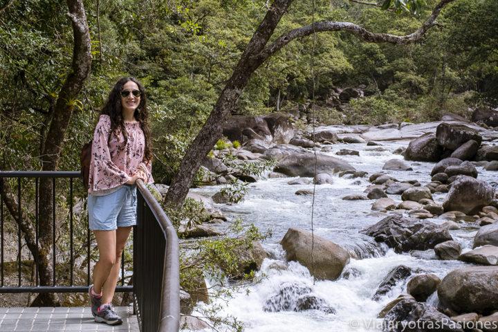 Panorama de la hermosa Mossman Gorge en Australia