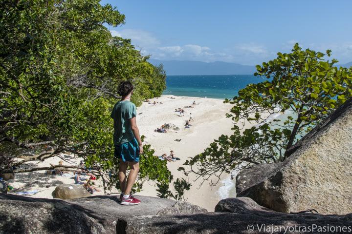 Espectacular vista de Nudey Beach en Fitzroy Island, cerca de Cairns, Australia