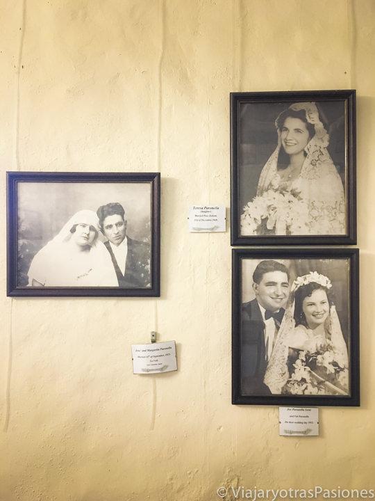 Fotos antiguas de la familia Paronella en el museo de Paronella Park en Australia