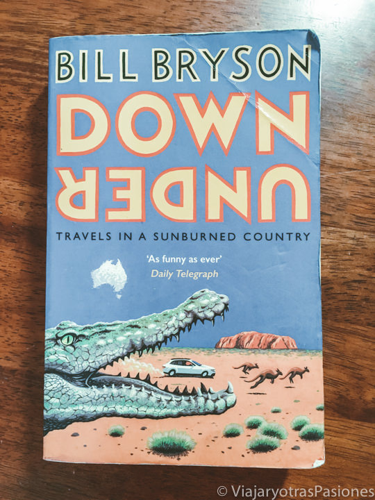 Portada del famoso libro sobre Australia En las Antípodas de Bill Bryson