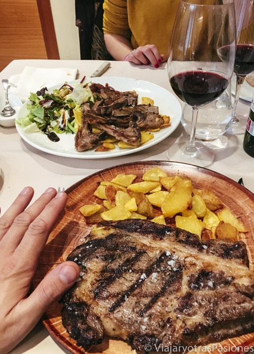 Famoso chuletón de Avila, en España