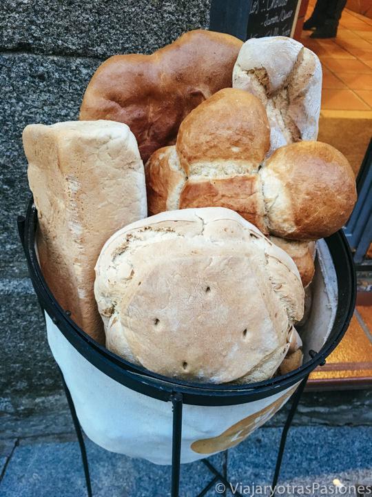Selección de pan castellano, típico de España