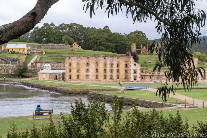 Panorama del histórico museo de Port Arthur en Tasmania, Australia