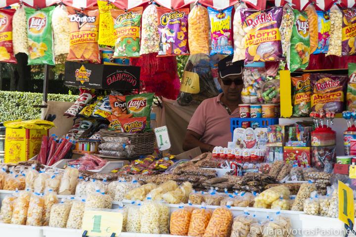 Típica tienda de chuches en España