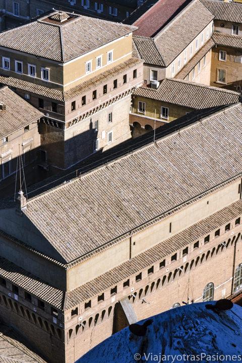 Exterior de la célebre Capilla Sixtina en la Ciudad del Vaticano en Roma