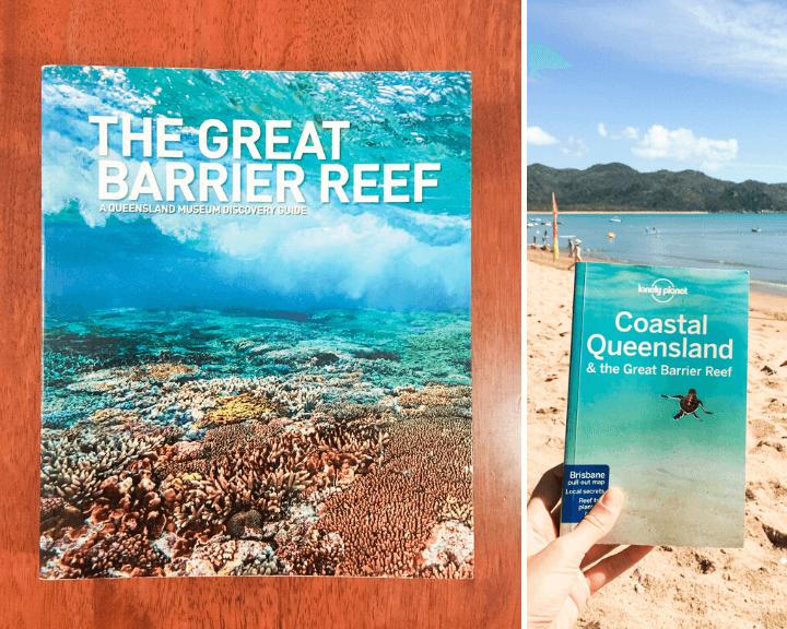 Portada de dos libros importantes para visitar la Gran Barrera de Coral en Australia