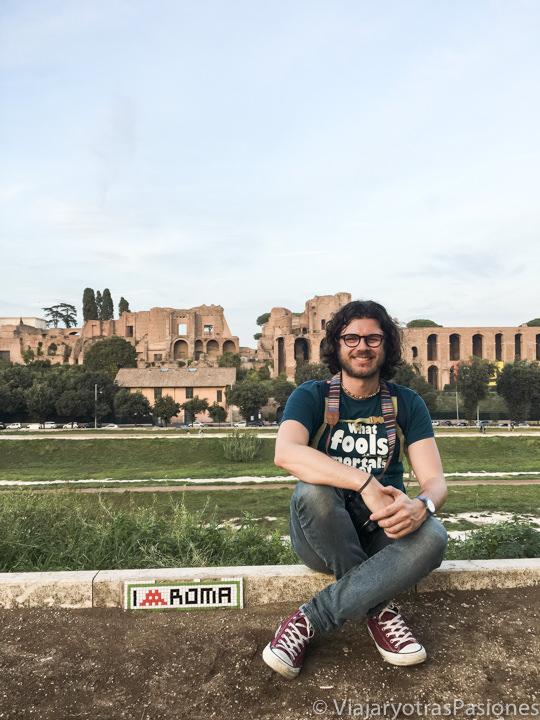 Vista del Circo Massimo y del cole Palatino en una tarde de Octubre, Roma