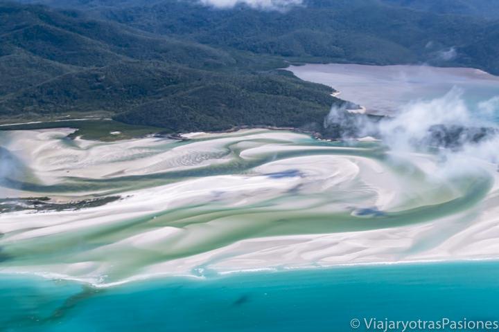 Impresionante estuario del rio en la isla Whitsunday, Australia