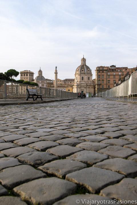 Primer plano de los famosos sampientrini de Roma, Italia