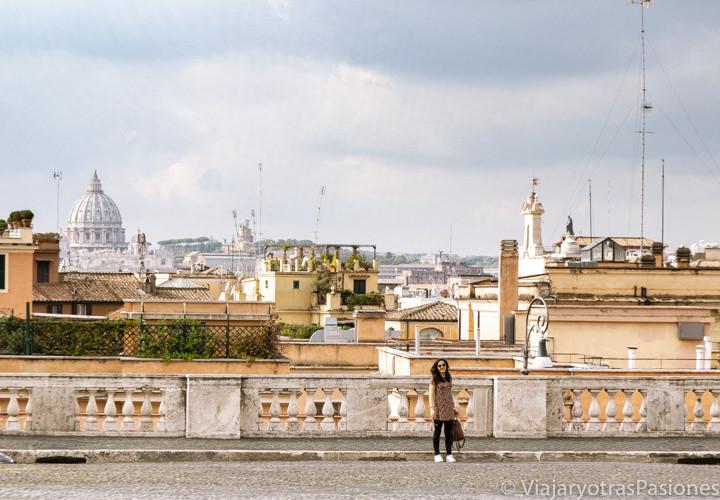 Increíble panorama desde el mirador del Quirinale en Roma, Italia