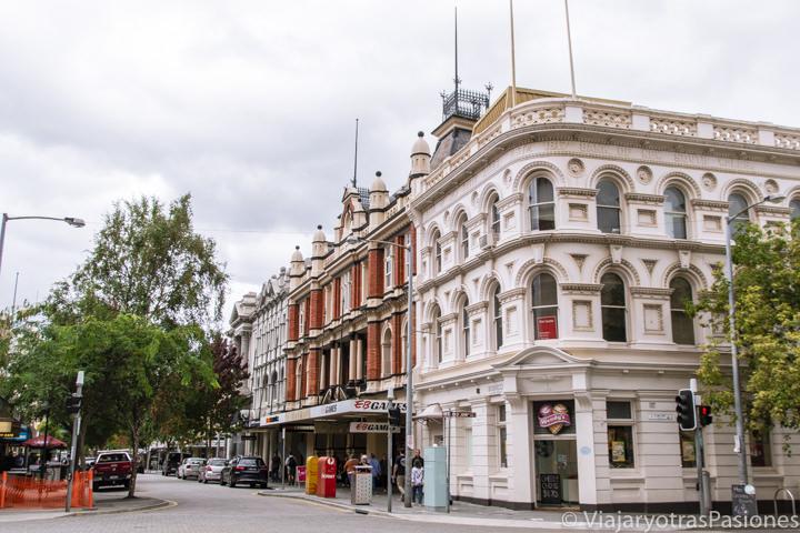 Típicos edificios del centro de Launceston en Tasmania, Australia