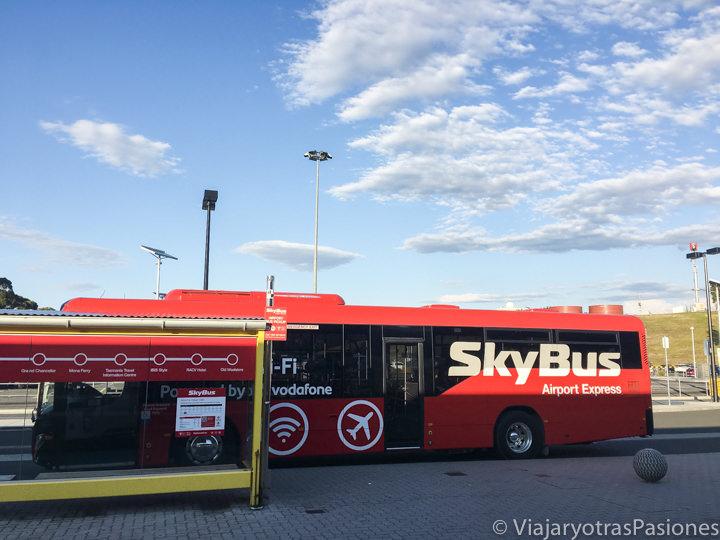 Sky Bus para el centro de Hobart desde el aeropuerto