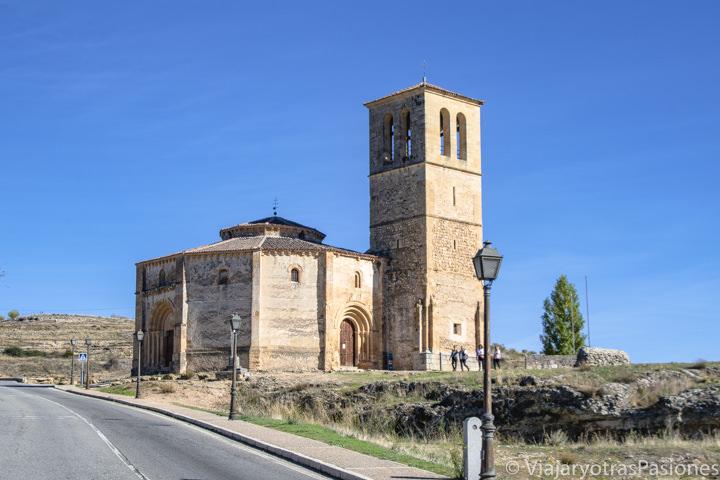 Bonita imagen de la iglesia de la Vera Cruz en Segovia, España