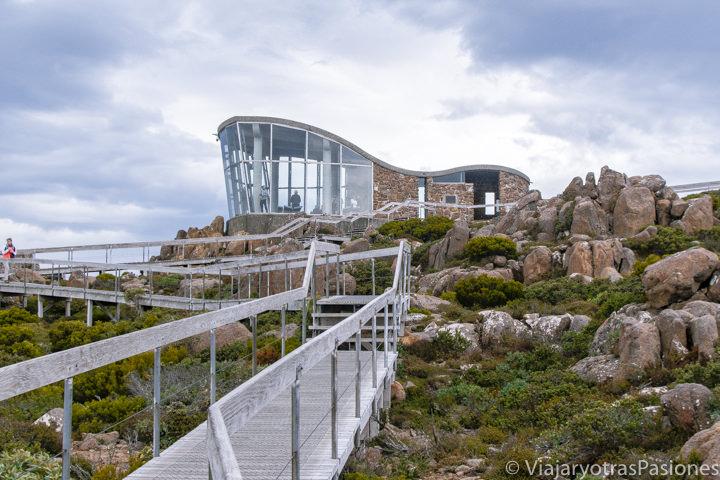 Mirador en la cima del Mount Wellington en Hobart, Tasmania