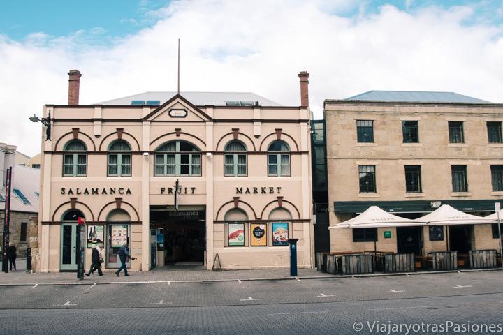 Típicos edificios del Salamanca Market en Hobart, Australia