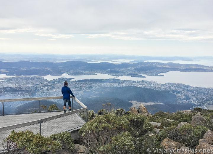 Espectacular vista desde el Mount Wellington en Hobart, Australia
