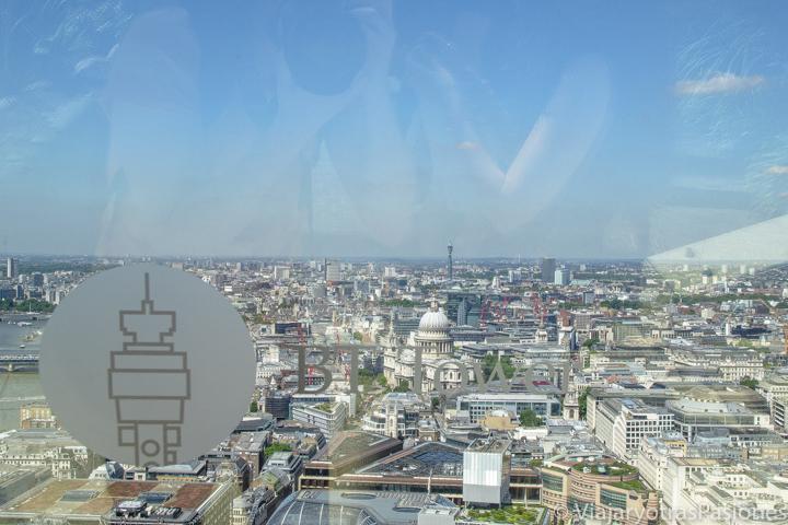 Panorama desde el Sky Garden en la city de Londres, Inglaterra