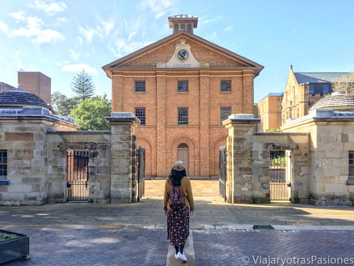 Entrada del Hyde Park Barracks en Sydney, Australia