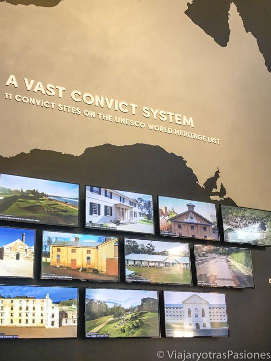 Imagen de todos los sitios de convictos en Australia