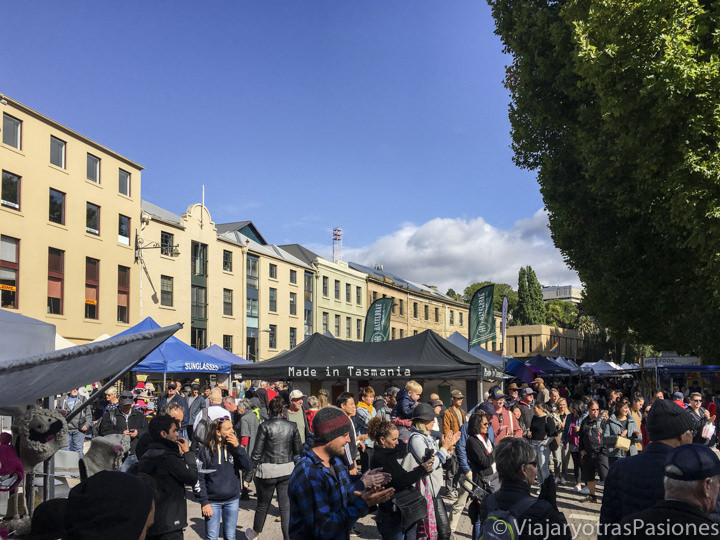 Panorama del Salamanca Market en Hobart, Tasmania