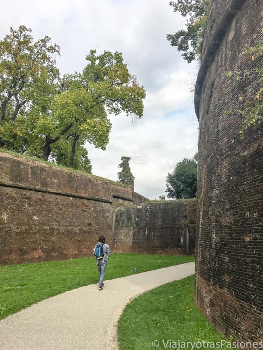 Entrada en el centro de Lucca a traves de la muralla de Lucca, Italia
