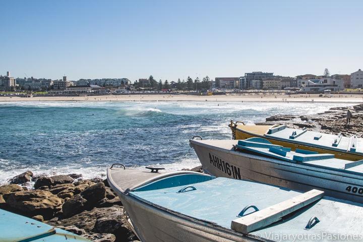 Hermosa imagen con barcos en North Bondi en Sydney, Australia