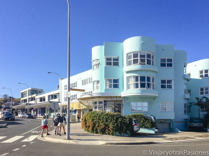 Bonita casa azul en North Bondi en Sydney, Australia
