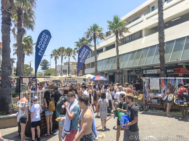 Típico mercadillo en Bondi Beach, Sydney, Australia