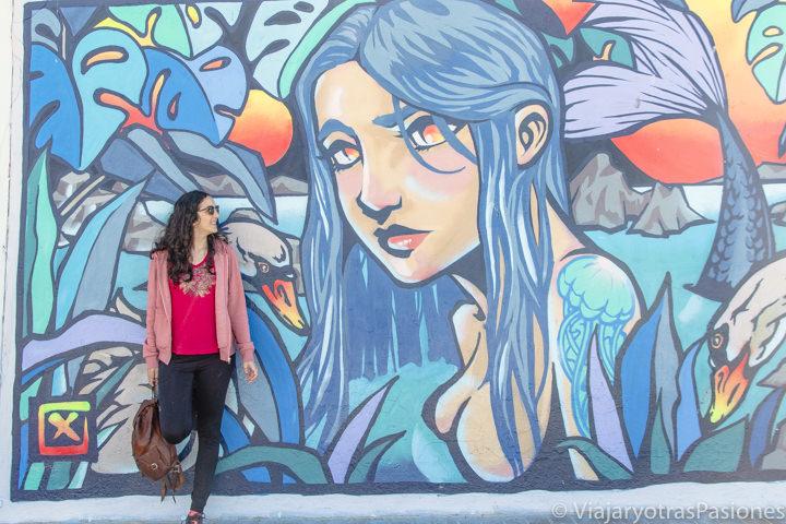 Imagen de un bonito mural frente a la playa de Bondi en Sydney, Australia