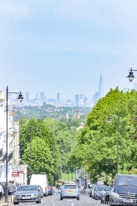 Vista panorámica desde Gipsy Hill en Londres, Inglaterras