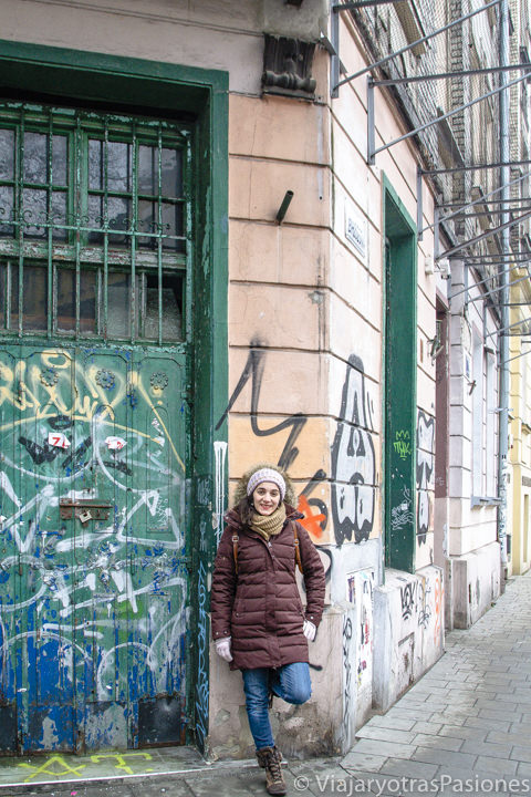 Street art en las calles del barrio judío de Cracovia, Polonia