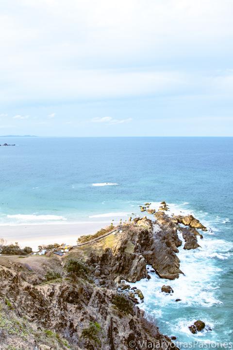 Increíble panorama del punto más al este de Australia en Byron Bay