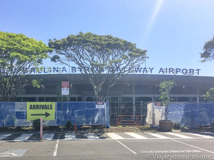 Exterior del aeropuerto de Ballina y Byron Bay en Australia