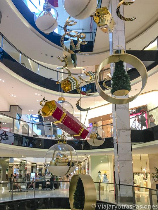 Decoraciones de Navidad en un centro comercial en Australia