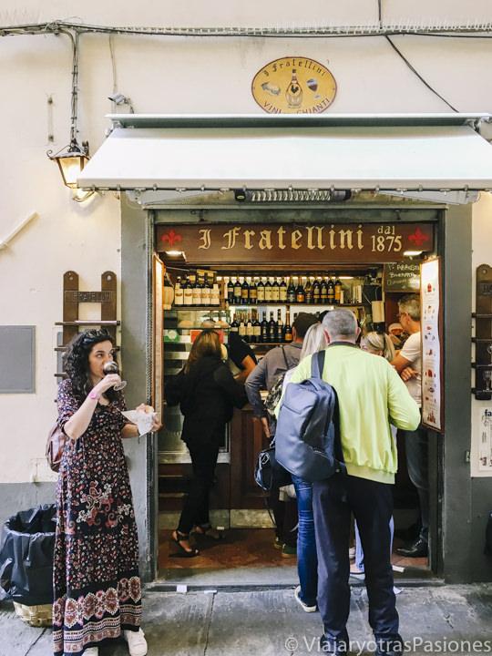 Entrada da la panineria I Fratellini en Florencia, Italia