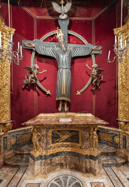 Imagen del famoso Volto Santo de Lucca, Italia