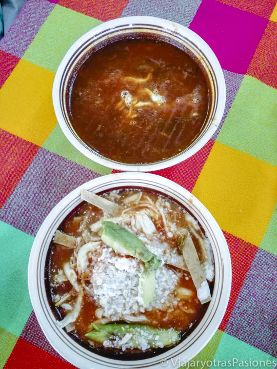 Buenísima sopa en Teotihuacán, México
