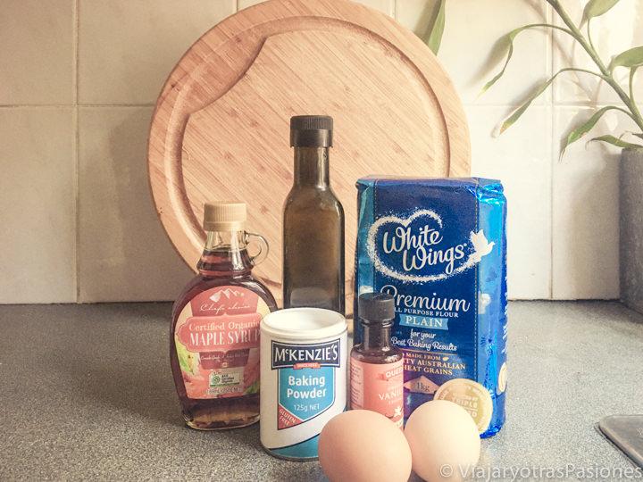 Ingredientes necesarios para hacer el pan de plátano
