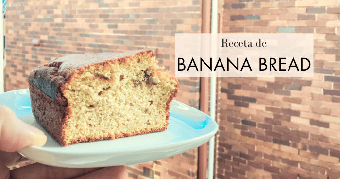 Receta de pan de plátano (banana bread).