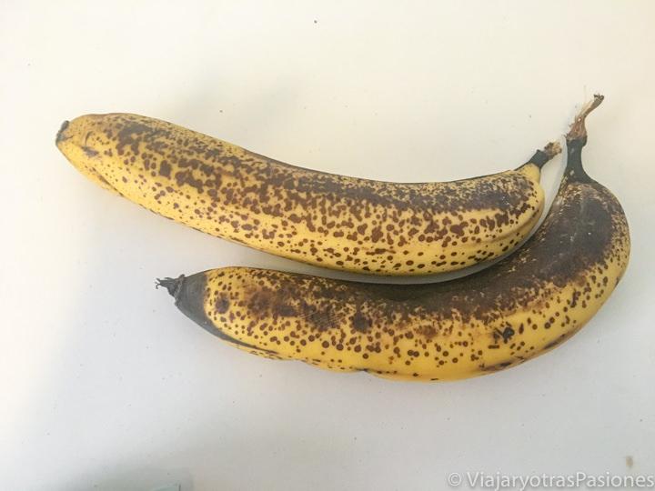 Bananas para el pan de plátano