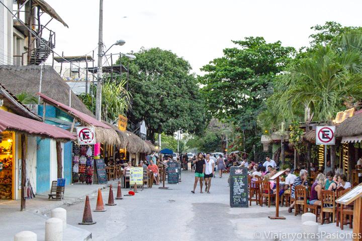 Calles interiores del pueblo de Tulum, en México