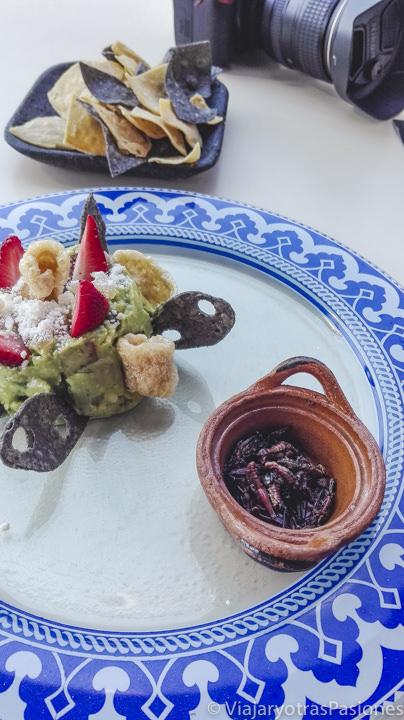 Típica porción de Chapulines, en México