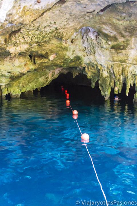 Cueva en el hermoso Gran Cenote de Tulum, México