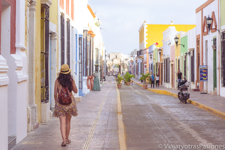 Espectacular panorama de la Calle 59 en Campeche, México